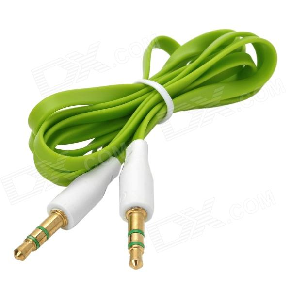 3.5mm Male to Male Audio Flat Cable - Green (95cm)