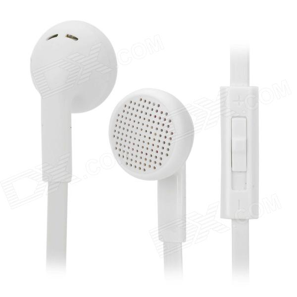 SHENGMIZHE smz-620 Stylish Universal 3.5mm Jack In-ear Headset w/ Microphone - White (120cm)