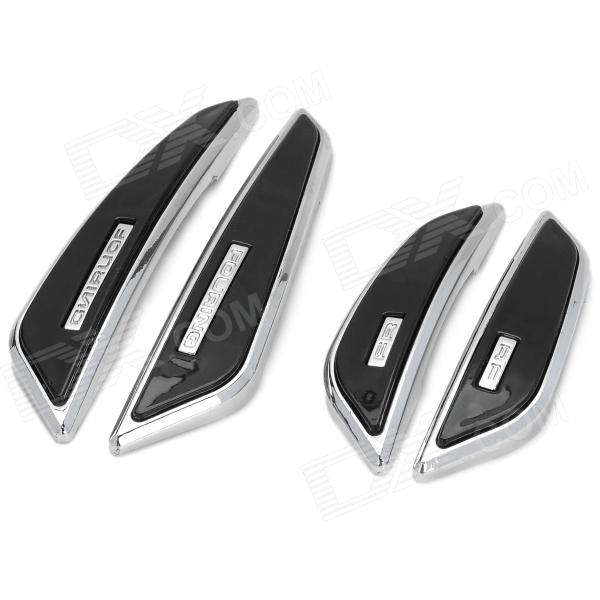 Protective Anti-Collision Saber Cushion Car Door Guard Sticker - Black + Silver (4 PCS)