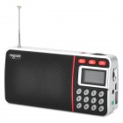 "NOGO R980 Portable 1"" Screen TF MP3 Speaker / FM Radio - Black + Silver (32GB Max.)"