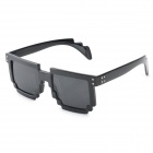 Fashion Retro Style UV400 Protection Resin Lens Sunglasses - Black