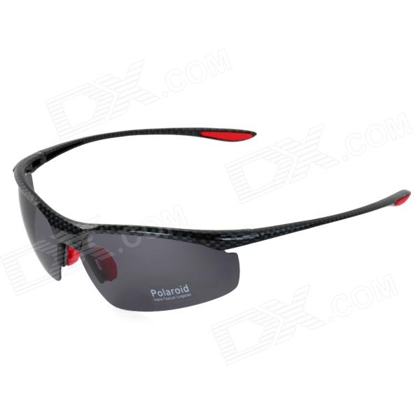 CARSHIRO XQ-040 UV400 Protection Anti-Dust Outdoor Cycling Polarized Sunglasses - Black + Red carshiro 9150 uv400 protection resin lens polarized night vision driving glasses