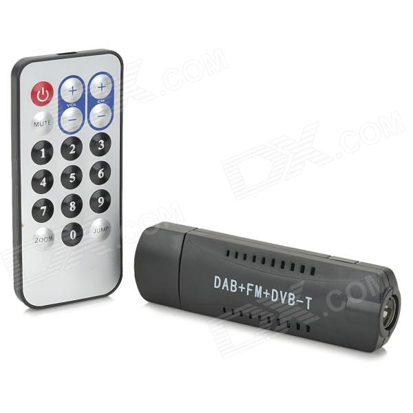 RTL2832U + R820T Mini DVB-T + DAB + FM + SDR USB DVB-T Stick mini dvb t digital tv usb dongle stick w fm dab dab remote control rtl2832u r820t
