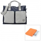 ISDA 1305018401 Fashion Business Style PU Hand Bag Shoulder Bag - Blue + Grey