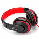 OVLENG X9 Universal 3.5mm Wired Headset w / microfone para Iphone / Samsung - preto + vermelho