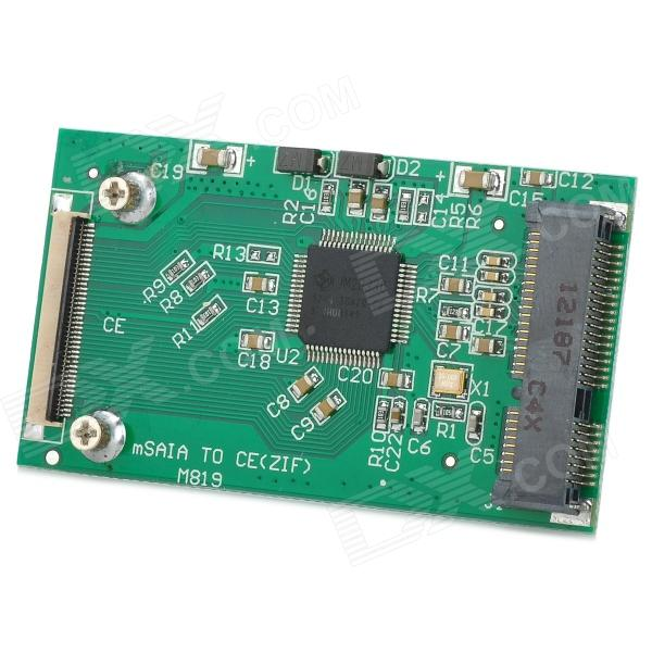 Mini SATA mSATA SSD to 1.8-inch 40pin ZIF Adapter Card for Mini Pci-e Intel Pinout SSD - Green подставка для мобильного телефона немо 9 7 5см 658785