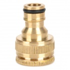 R-2030 Universal Brass 12~25mm Female Thread Faucet Connector / Adapter - Golden