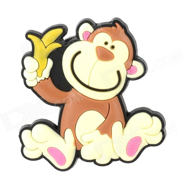 10040015 Creative Monkey Style Refrigerator Magnetic Sticker - Brown + Light Yellow + Black