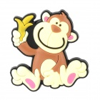 Creative Monkey Style Refrigerator Magnetic Sticker - Brown + Light Yellow + Black