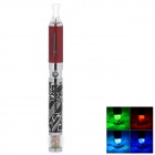 W1312 Music Note Pattern 650mAh USB Electronic Cigarette w/ Eovd MT3 Atomizer - Red + Silver + Black