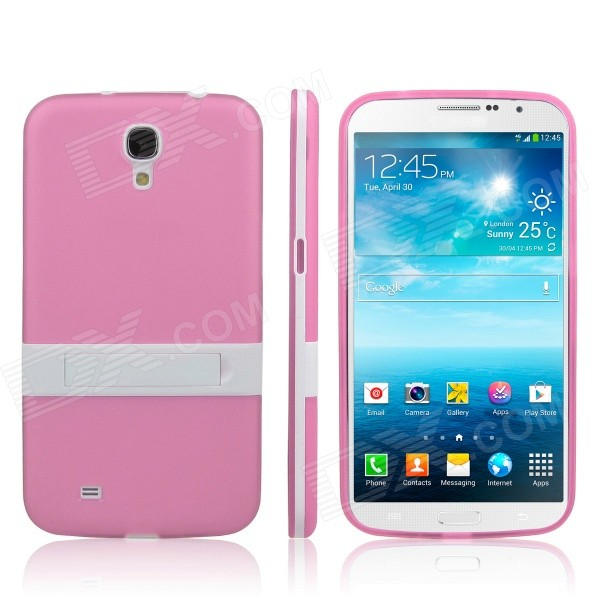 ENKAY Protective TPU Back Case w/ Stand for Samsung Galaxy Mega 6.3 i9200 / i9208 - Pink enkay protective tpu back case w holder stand for samsung galaxy note 3 n9000 pink