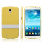 ENKAY Protective TPU Back Case w/ Stand for Samsung Galaxy Mega 6.3 i9200 / i9208 - Yellow