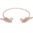 Cute Angel Wings Style Bracelet w/ Shiny Rhinestone Decorated for Women - Rose Gold