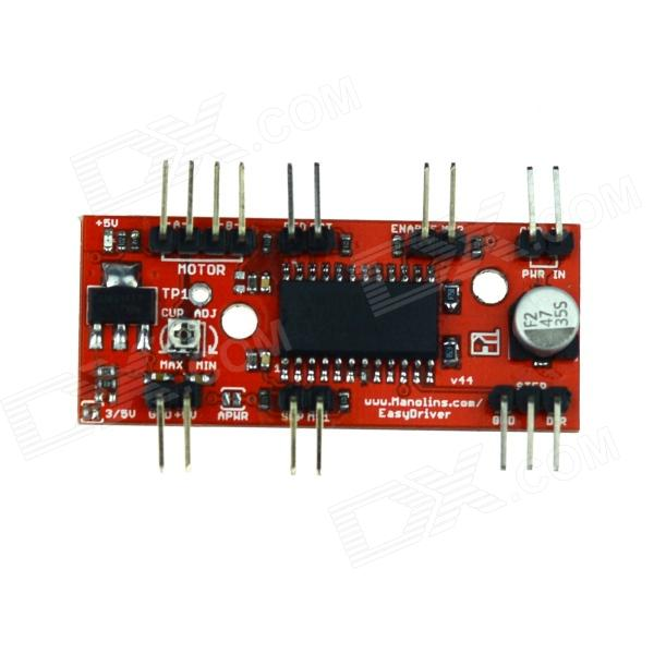 Manolins A3967 Stepper Motor EasyDriver Shield Drive Driver Board for 3D Printer - Red yako stepper servo drive ssd2608h voltage dc30 110v ac20 80v modular hybrid closed loop stepper driver 3000r min