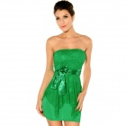 Fashionable Sexy Double-Layer Package Hip Tutu Dress for Women - Green (Free Size)