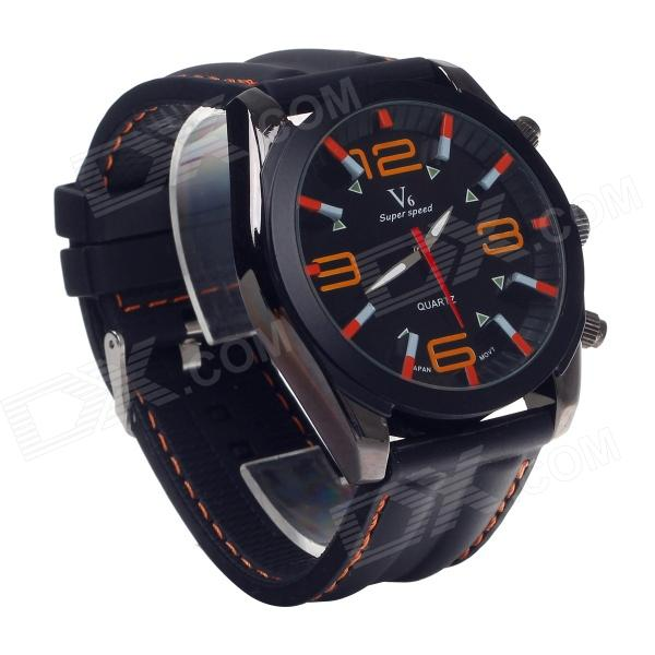 SuperSpeed V0176 Fashionable Stainless Steel Men's Quartz Analog Wrist Watch - Black (1 x LR626) high quality 20mm 22mm 24mm leather watch strap man watch straps black brown gray stainless steel buckle thick line watch band