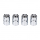 Replacement Stainless steel Car Tire Valve Caps - Silver + Black (4 PCS)