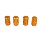 Universal Fashionable Aluminum Alloy Car Tire Valve Caps - Golden (4 PCS)