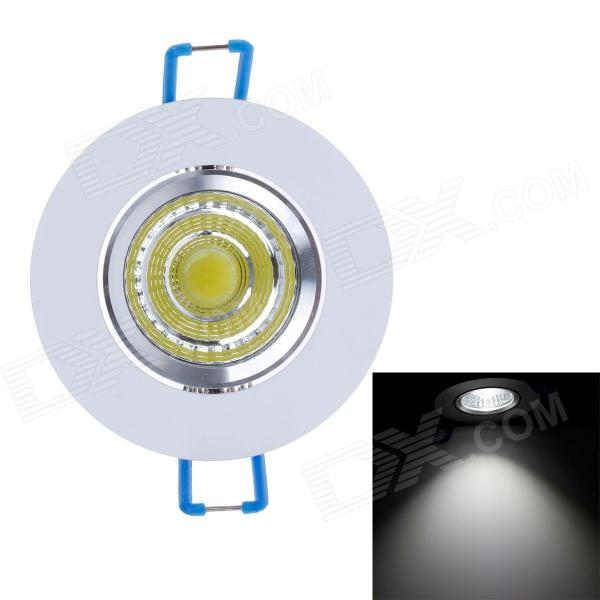 ZY-COB05-TH05 5W 450lm 6000K COB LED White Light Ceiling Light - Silver + White + Blue (85~265V) - DX - DXCeiling Light<br>Brand ZIYU Model ZY-COB05-TH05 Material Aluminum + acrylic Color Silver + white + blue colour system Quantity 1 Voltage 85~265 V Luminous Flux 450 lm Color Temperatur 6000 K Wavelength 0 nm Outer diameter 6.8 cm Hole diameter 4.1 cm Height 4 cm Bulb interface Wired Power 5W Product Certification CE Keywords Color Bin: White light; Efficient security energy saving Packing List 1 x Ceiling Light (33.5cm-cable)<br>