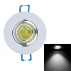 ZY-COB05-TH05 5W 450lm 6000K COB LED White Light Ceiling Light - Silver + White + Blue (85~265V)