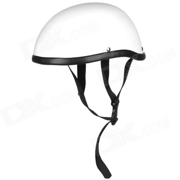 Harley Style Glass Fiber Half Motorcycle Helmet - White safety pvc special forces helmet random color