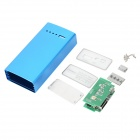 A56 Mobile Power Bank Aluminum Alloy Housing Case w/ Protective Board for 2 x 18650 - Blue