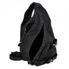 Free Soldier Outdoor Waterproof 1000D Nylon Tactical Single Shoulder Strap Triangle Backpack - Black