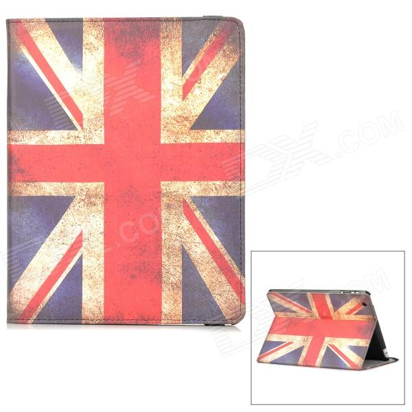 Retro UK National Flag Style PU Leather Case w/ Auto Sleep for Ipad 2 / 3 / 4 - Red + White + Blue