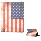US National Flag Style PU Leather Case w/ Auto Sleep for Ipad 2 / 3 / 4 - Red + White + Blue