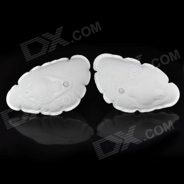 Magic Inflatable Bra Pad Push Up Breast Enhancer - White (Pair)