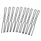 "Convenient ""U"" Shaped Hair Pin Clip - Black (1 x 100 PCS)"