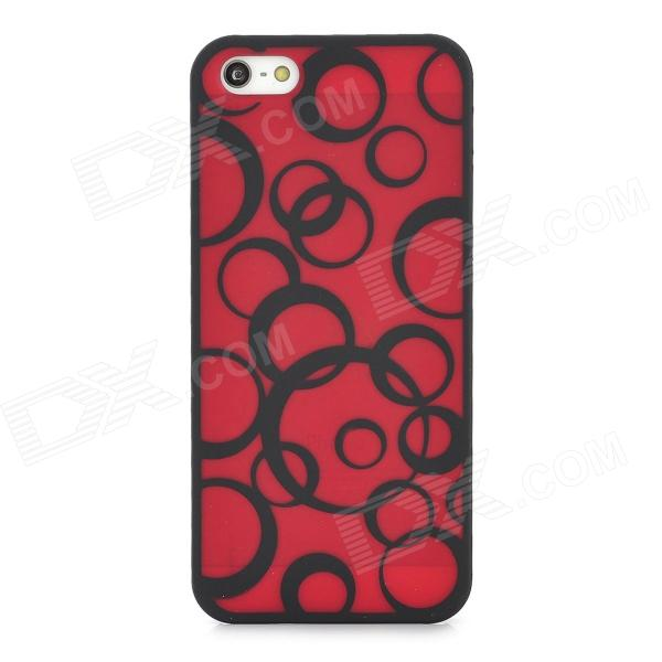 Protective Round Circle Pattern Plastic Back Case for Iphone 5 - Red - DXPlastic Cases<br>Brand N/A Quantity 1 Piece Color Red Material Plastic Type Back Cases Compatible Models Iphone 5 Other Features Personalize your device and protect your it from scratch dust and shock Packing List 1 x Case<br>
