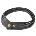 Multi-Layer Fashion Leather Bracelet - Black