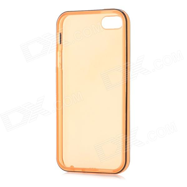 цены Protective Matte Soft TPU Back Case for Iphone 5 - Black + Orange