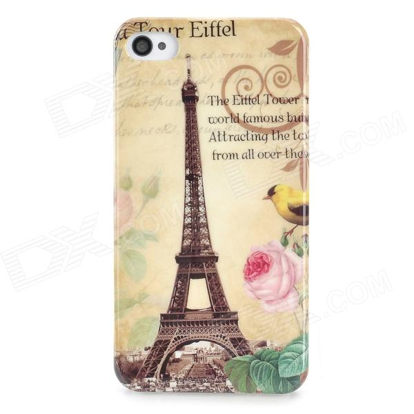 Eiffel Tower Pattern Protective PC Back Case for Iphone 4 / 4S - Multicolor