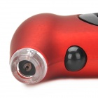 "Portable Handheld 0.8"" LCD Digital Tire Pressure Gauge - Deep Red+ Black (1 x CR2032 + 3 x LR44)"