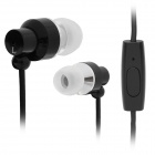 JUNEROSE JR-i710 In-Ear Stereo Earphone w/ Microphone for Iphone / HTC / Samsung - Black + Silver