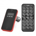 "CQ-009  1.0"" LED Car MP3 Player w/ FM Transmitter / SD Card Slot / Remote Controller - Black + Red"