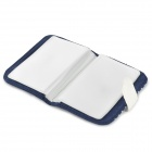 Raya de la manera Lona Estilo Card Holder - azul + blanco