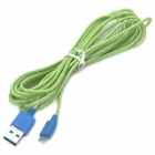 USB 3.0 Male to 8pin Lightning Male Data Sync & Charging Braided Cable - Blue + Green (300cm)