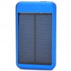 5000mAh Solar Powered External Battery Power Bank for iPhone 5 + Samsung + HTC - Blue + Black