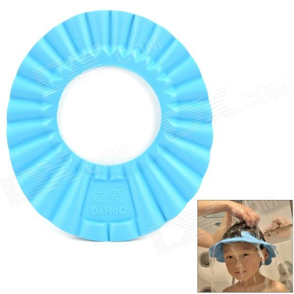 EVA Water / Shampoo Protection Hair Washing Hat for Kids - Blue a cat a hat and a piece of string