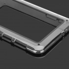 Protective ABS Silicone Bumper Frame for Samsung P3100 / 6200 - Transparent + Black