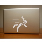 PAG Creative Matchstick Men Pattern DIY Sticker for MacBook - White