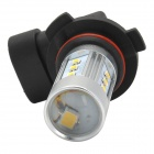 9006 15W 700lm 6500K 15-2323 SMD LED White Light Car Headlamp - Silver + Black (10~30V)