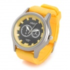 SBAO S-385 Rubber Band Analog Quartz Wrist Watch for Men - Yellow + Black