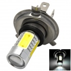 H4 16W 900lm 6500K White Light Car Headlamp w/ 2-Cree XP-E + 4-COB LED - Silver + Yellow (10~30V)