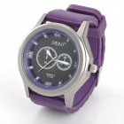 SBAO S-385 Rubber Band Analog Quartz Wrist Watch for Men - Purple + Black