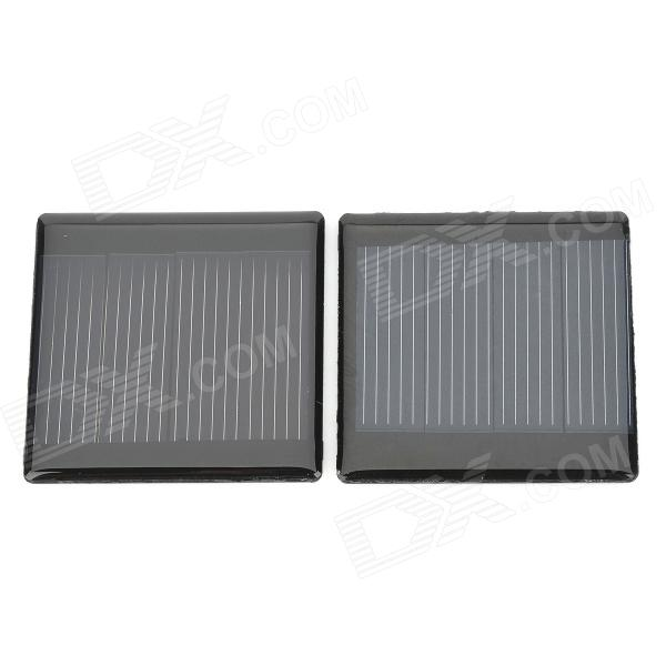 DIY 2V 150mA Solar Motor Battery Panel - Black (2 PCS)