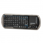 iPazzport KP-810-18V Rechargeable 2.4G Wireless 92-Key German Keyboard - Black